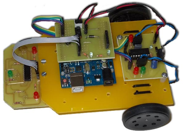 Arduino uno r line follower robot