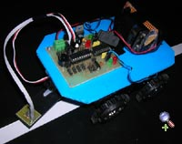 Line follower robot with one sensor