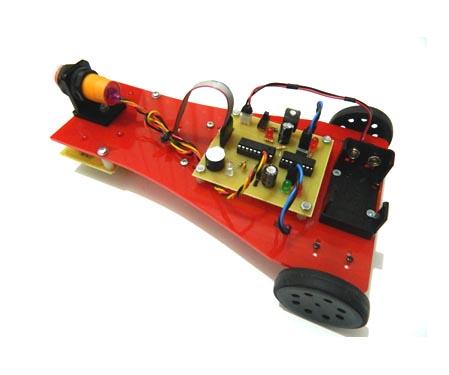 Mini Line Follower Robot With MZ80 Infrared Sensor